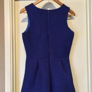 Missguided Dresses - Missguided Blue Mesh Scuba Dress